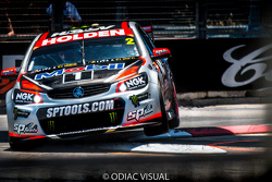 Garth Tander on the kerbs.