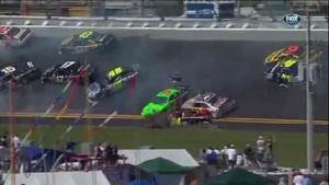 Chain Reaction Wreck - Daytona International Speedway 2011