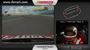 On board of the Ferrari 458 Challenge: Harry Cheung in Homestead