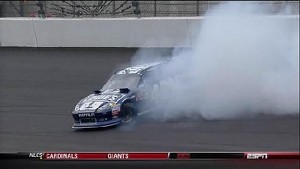 Big Slip For Jimmie Johnson - Kansas - 10/21/2012