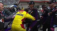 Joey Logano and Denny Hamlin fight at Bristol!!!