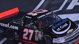 NASCAR Jeff Agnew hits the inside wall | Bristol (2013)