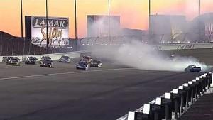 NASCAR Hornaday avoids a spinning Newberry   Smith's 350, Las Vegas