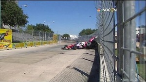 Dario Franchitti Huge Crash Houson GP Race 2 with interviews