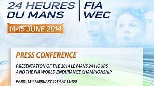 Press Conference - 24 Heures du Mans 2014