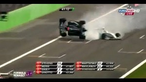 Formula Renault 3.5 massive crash between Marco Sorensen and Jazeman Jafaar at Monza