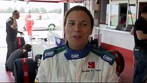 Simona de Silvestro - Formula 1 debut on Ferrari's Pista di Fiorano