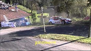 Robert Kubica crashes at Rallye France