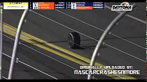 A wheel enters the Daytona 24 hours a few hours later