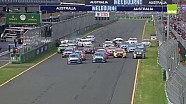 V8 Supercars 2015 Albert Park Race 4 Start pile-up