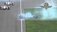 Kurt Busch Crashes in Indy 500 Practice