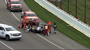 Josef Newgarden practice crash - Indianapolis Motor Speedway - May 14