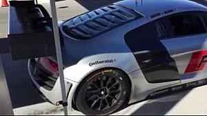 Audi R8 LMS burnout with Dion von Moltke