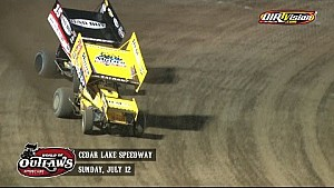 Highlights: Sprint Cars Cedar Lake Speedway July 12th, 2015