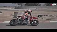 Marc Marquez en essais de Supermotard