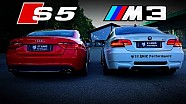 Audi S5 vs BMW M3 E92 V8 Sound Battle S5 Capristo vs M3 HMS STANIC PERFORMANCE
