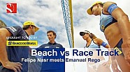Nasr plays beach volleyball with Olympic champion Emanuel Rego