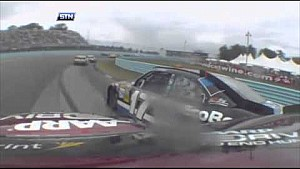Onboard NASCAR crash compilation