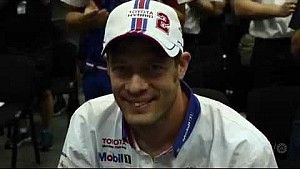 Tribute made at Today's drivers briefing for Alex Wurz