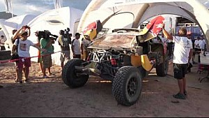 Wideoblog Rajd Dakar 2016: Samochód Loeba po wypadku