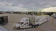 Un Time-Lapse de l'entrée des camions à Daytona