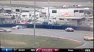 حادثة طوني كنعان و ستيفن خلال مجريات سباق 24 ساعة على حلبة دايتونا