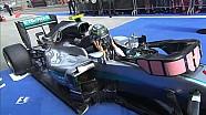 Nico Rosberg fête sa victoire dans le Parc Fermé