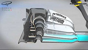 Giorgio Piola - Mercedes W07 'S' duct and front wing changes (Pre-season testing)