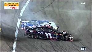 Hamlin, Logano, Larson, Keselowski crash