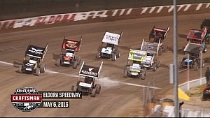 World of Outlaws Craftsman Sprint Cars Eldora Speedway May 6th, 2016 | HIGHLIGHTS