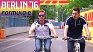 Sebastien Buemi & Sam Bird Berlin Circuit Recce - Formula E