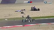 Авария в первой гонке Европейской Формулы 3 в Шпильберге