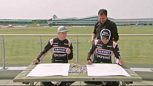Force India's Hulkenberg & Perez draw the VJM09