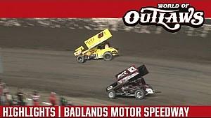 World of Outlaws Craftsman Sprint Cars Badlands Motor Speedway July 2nd, 2016 | HIGHLIGHTS