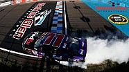 Relive Hamlin's epic burnout after first road-course win