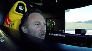 Christian Horner takes up Red Bull simulator challenge