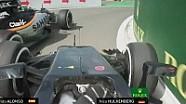 Belçika GP: Alonso ile Hulkenberg'in pit yolu mücadelesi