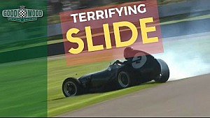 Terrifying offroad slide in the Chichester Cup