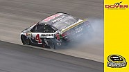 Harvick goes to the garage at Dover