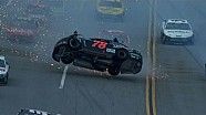 Kurt Busch flips in big wreck at Talladega! - Aaron's 499 - 2013