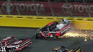 Johnny Sauter crashes at Charlotte!