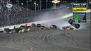 2014 Duels at Daytona finish Clint Bowyer flips and crashes