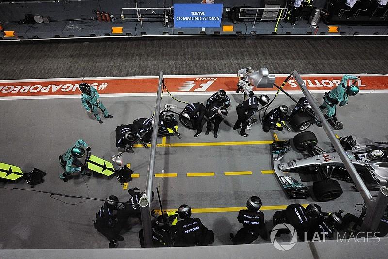 A Mercedes majdnem 200 ponttal veri a Ferrarit a bokszutcában