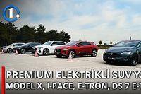 DRAG | Tesla Model X vs Jaguar I-Pace vs Audi e-tron vs DS 7 Crossback