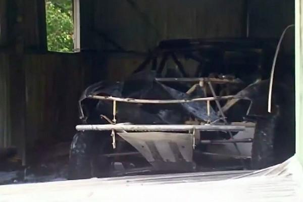 Peter Brock's Dakar car destroyed in fire