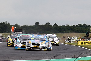BTCC Breaking news Drivers penalised for Snetterton camera gantry crash