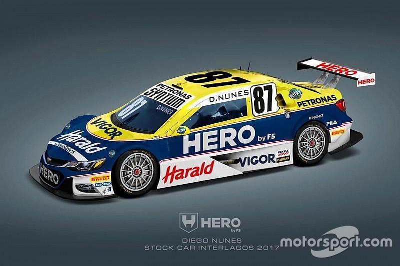 Nunes corre com pintura de carro campeão de Nelson Piquet