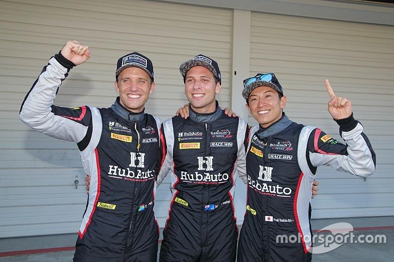 予選PPの28号車フェラーリの吉田広樹「チームでワンツー狙う」