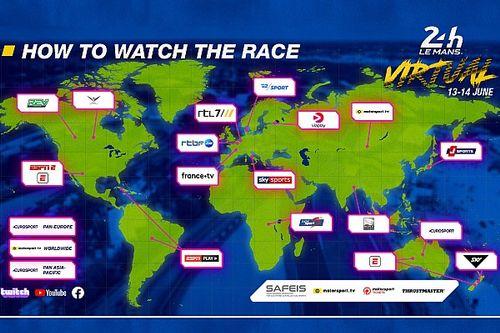 Gdzie oglądać 24 Hours of Le Mans Virtual?