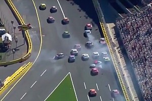 NASCAR Cup Breaking news Restart pileup takes out several contenders - video